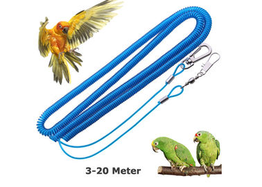 China Coiled Parrot Safe Rope Prevent Bird Accidental Flying Expanding 20 Meter distributor