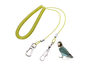 China Length 4M Coiled Parrot Safe Rope Quick Release Safe Spiral Tether W/ Wire Core factory