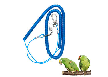 China Elastic Coil Style Safety Harness Lanyard Tether String Blue TPU Coated Leash factory