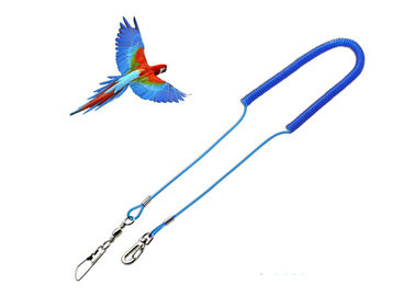 China Retractable Steel Reinforced Parrot Safe Rope , Safty Bungee Lanyard Strech 3 Meters factory