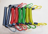 3.0MM Plastic Coil Lanyard Custom Colours PU Coating With 2 Rope Loop Ends